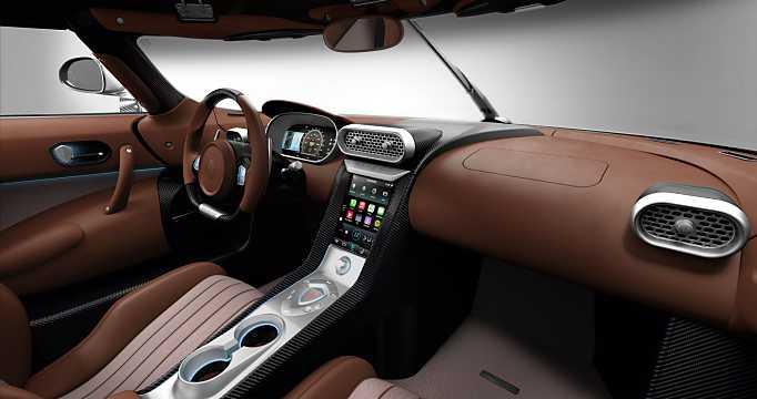 Interior of Koenigsegg Regera 5.0 V8 KDD, 1500hp, 2016