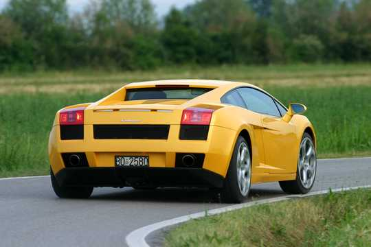 Back/Side of Lamborghini Gallardo 5.0 V10 AWD E-Gear, 500hp, 2004