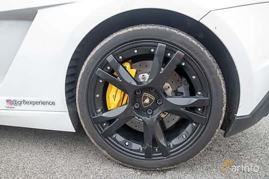 Närbild av Lamborghini Gallardo LP 560-4 5.2 V10 AWD E-Gear, 560ps, 2009 på Vallåkraträffen 2019