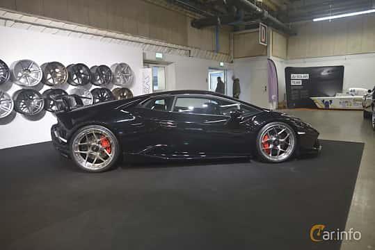 Side  of Lamborghini Huracán Performante 5.2 V10 DCT, 640ps, 2018 at Bilsport Performance & Custom Motor Show 2019