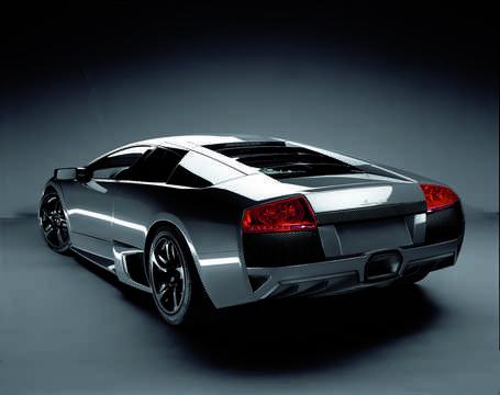 Back/Side of Lamborghini Murciélago LP 640 6.5 V12 Manual, 640hp, 2007