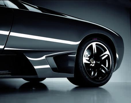 Close-up of Lamborghini Murciélago LP 640 6.5 V12 Manual, 640hp, 2007