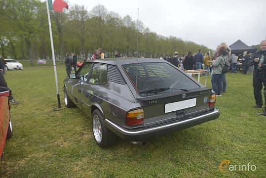 Back/Side of Lancia Beta HPE 2.0 Manual, 135ps, 1984 at Italienska Fordonsträffen - Krapperup 2019