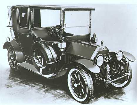 Front/Side  of Lancia Gamma-20HP 3.5 Manual, 1910