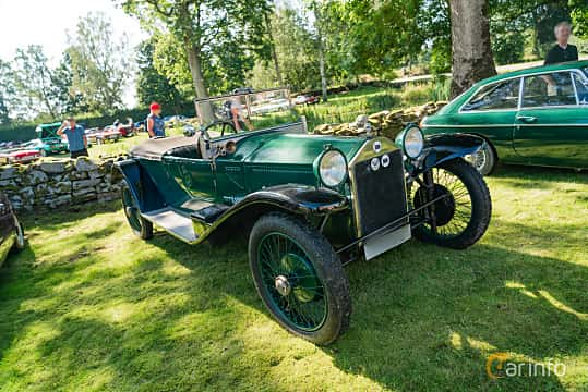Front/Side  of Lancia Lambda Torpedo 2.1 Manual, 1925 at Sportbilsklassiker Stockamöllan 2019