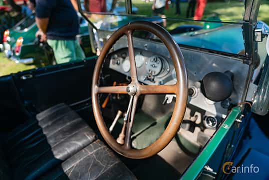 Interior of Lancia Lambda Torpedo 2.1 Manual, 1925 at Sportbilsklassiker Stockamöllan 2019