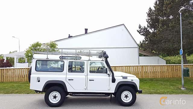 Side  of Land Rover Defender 110 Station Wagon 2.4 TD4 4x4 Manual, 122ps, 2011