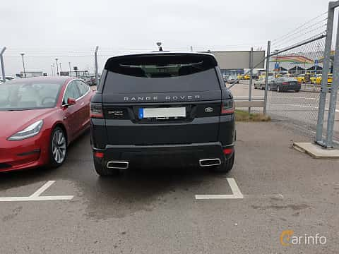 Back of Land Rover Range Rover Sport P400e 2.0 + 13.1 kWh 4WD Automatic, 404ps, 2019