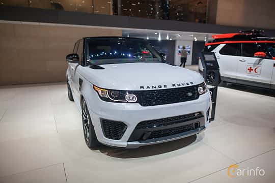 Front/Side  of Land Rover Range Rover Sport SVR 5.0 V8 4WD Automatic, 550ps, 2017 at Geneva Motor Show 2017