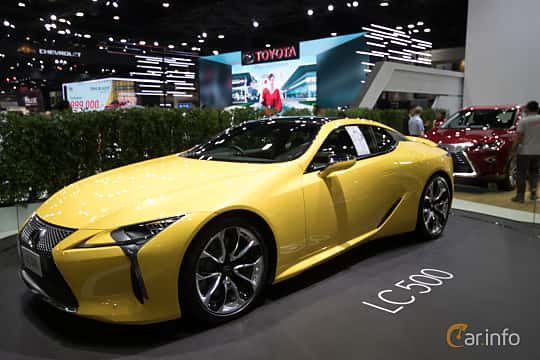 Front/Side  of Lexus LC 500 5.0 V8 Automatic, 477ps, 2019 at Bangkok Motor Show 2019