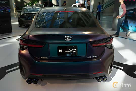 Back of Lexus RC 350 3.5 V6 Automatic, 318ps, 2019 at LA Motor Show 2018