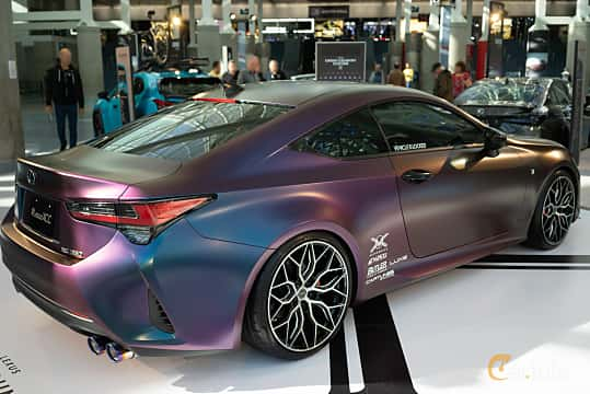 Back/Side of Lexus RC 350 3.5 V6 Automatic, 318ps, 2019 at LA Motor Show 2018
