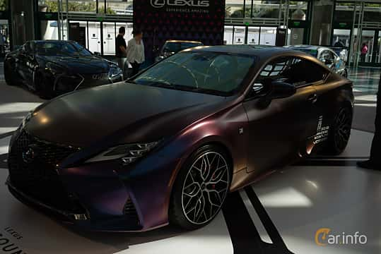 Front/Side  of Lexus RC 350 3.5 V6 Automatic, 318ps, 2019 at LA Motor Show 2018