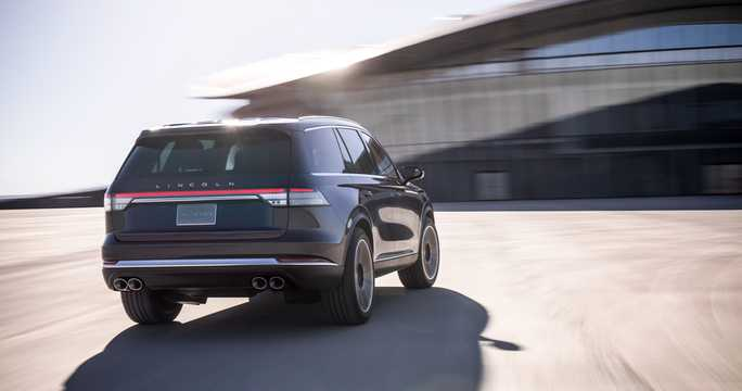 Back/Side of Lincoln Aviator Concept Concept, 2018