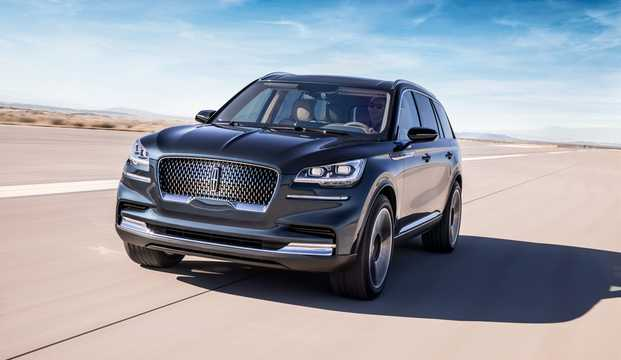Front/Side  of Lincoln Aviator Concept Concept, 2018