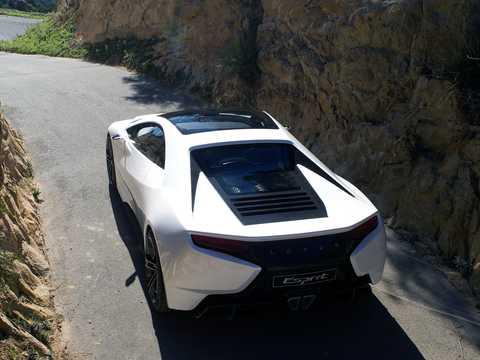 Back/Side of Lotus Esprit 5.0 V8 DCT, 620hp, 2010