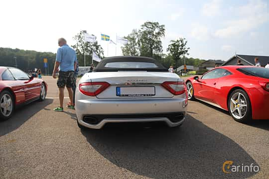 Back of Maserati GranCabrio Sport 4.7 V8  Automatic, 450ps, 2012 at Autoropa Racing day Knutstorp 2019