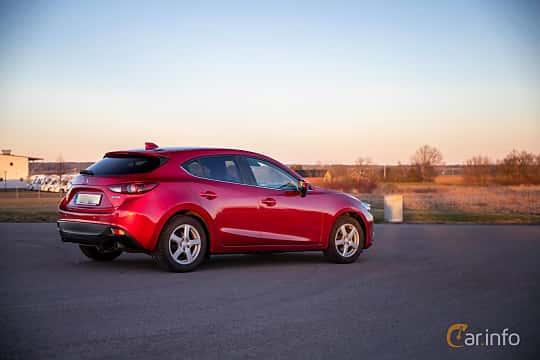 Back/Side of Mazda 3 Sport 2.0 SKYACTIV-G Manual, 165ps, 2014