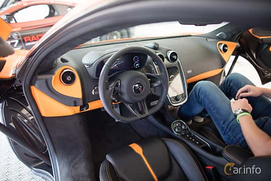 Interior of McLaren 570S 3.8 V8 DCT, 570ps, 2016 at Autoropa Racing day Knutstorp 2015