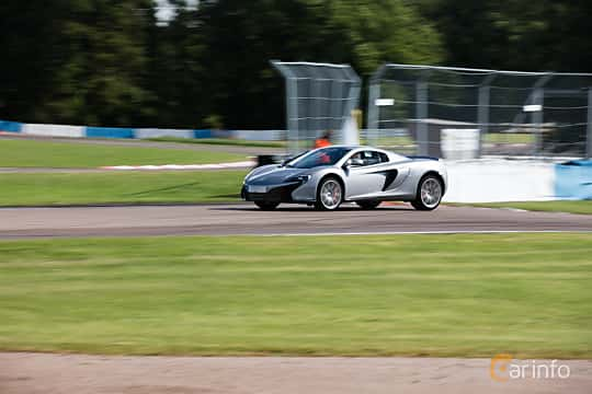 Front/Side  of McLaren 650S 3.8 V8 DCT, 650ps, 2015 at Autoropa Racing day Knutstorp 2015