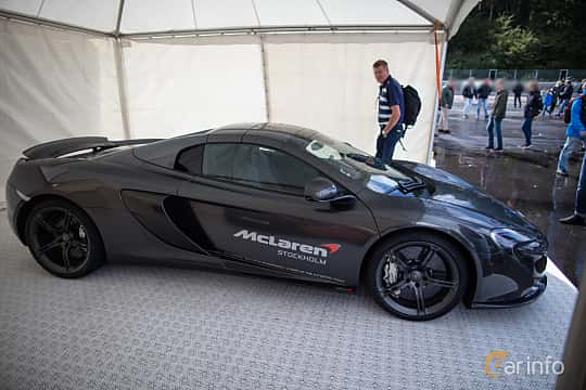 Side  of McLaren 650S Spider 3.8 V8 DCT, 650ps, 2015 at Autoropa Racing day Knutstorp 2015