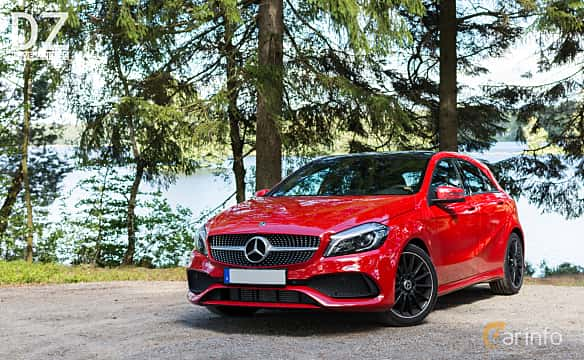 Front/Side  of Mercedes-Benz A 200 d  7G-DCT, 136ps, 2017