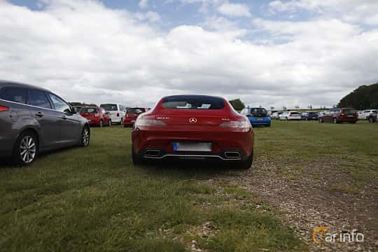Back of Mercedes-Benz AMG GT S  AMG Speedshift DCT, 510ps, 2016 at Sofiero Classic 2019