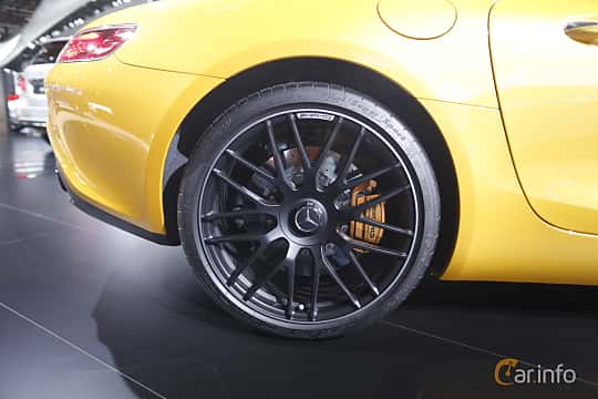 Närbild av Mercedes-Benz AMG GT S 4.0 V8 AMG Speedshift DCT, 510ps, 2017 på North American International Auto Show 2017