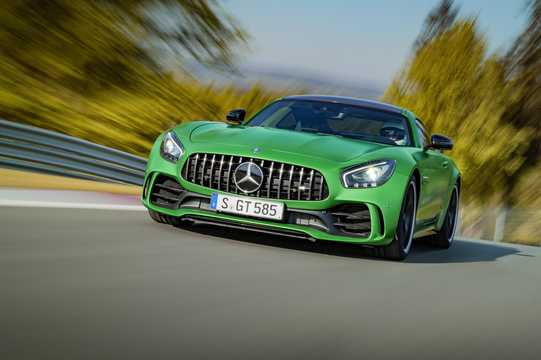 Front/Side  of Mercedes-Benz AMG GT R  AMG Speedshift DCT, 585hp, 2018