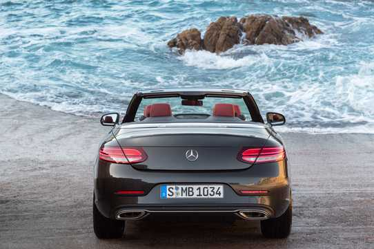 Back of Mercedes-Benz AMG C 43 Cabriolet 4MATIC  , 390hp, 2019