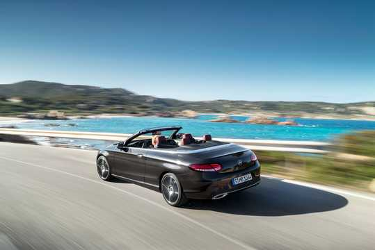 Back/Side of Mercedes-Benz AMG C 43 Cabriolet 4MATIC  , 390hp, 2019