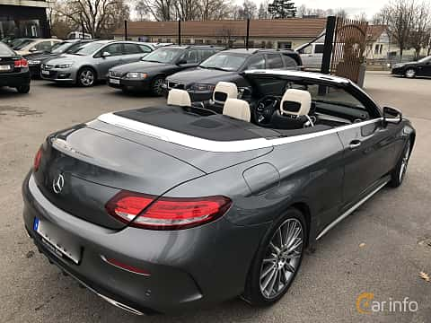 Back/Side of Mercedes-Benz C 180 Cabriolet 1.6 9G-Tronic, 156ps, 2017