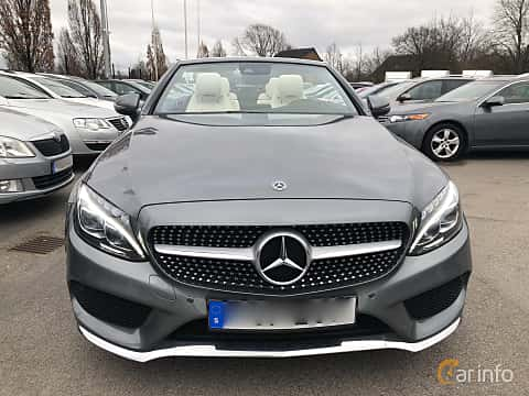 Front of Mercedes-Benz C 180 Cabriolet 1.6 9G-Tronic, 156ps, 2017