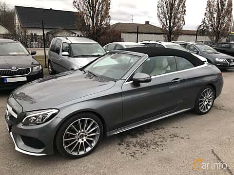 Front/Side of Mercedes-Benz C 180 Cabriolet 1.6 9G-Tronic, 156ps, 2017
