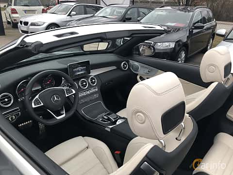 Interior of Mercedes-Benz C 180 Cabriolet 1.6 9G-Tronic, 156ps, 2017