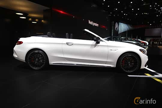 Sida av Mercedes-Benz AMG C 63 S Cabriolet 4.0 V8 AMG Speedshift MCT, 510ps, 2017 på North American International Auto Show 2017