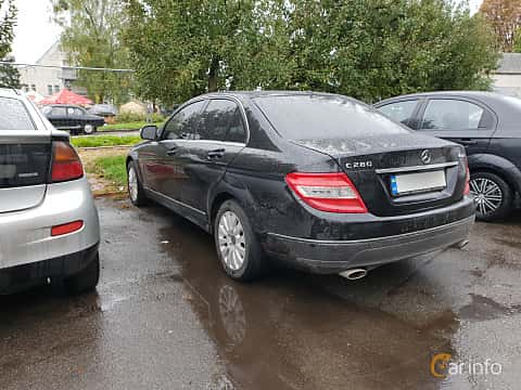 Bak/Sida av Mercedes-Benz C 280 4MATIC 7G-Tronic, 231ps, 2007 på Old Car Land no.2 2018