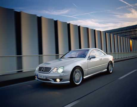 Front/Side  of Mercedes-Benz CL 55 AMG  5G-Tronic, 360hp, 2000