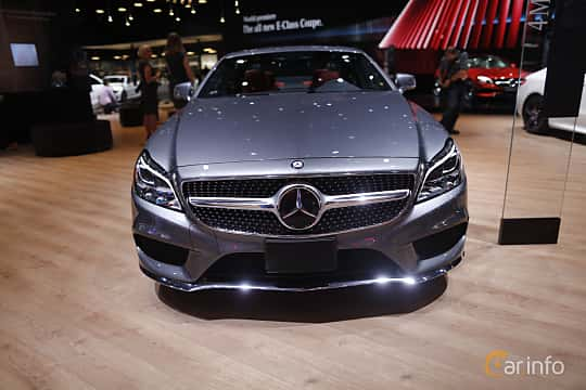 Fram av Mercedes-Benz CLS 500 4MATIC 4.6 V8 4MATIC 9G-Tronic, 408ps, 2017 på North American International Auto Show 2017
