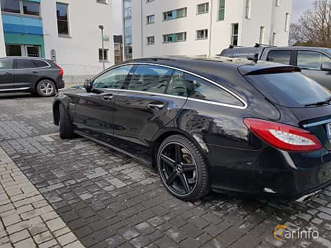 Back/Side of Mercedes-Benz CLS 63 AMG 4MATIC Shooting Brake 5.5 V8 4MATIC , 557ps, 2015