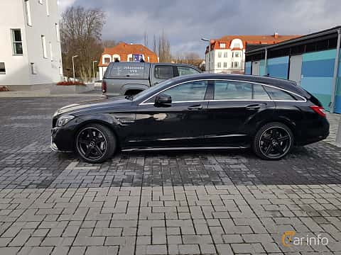 Side of Mercedes-Benz CLS 63 AMG 4MATIC Shooting Brake 5.5 V8 4MATIC , 557ps, 2015