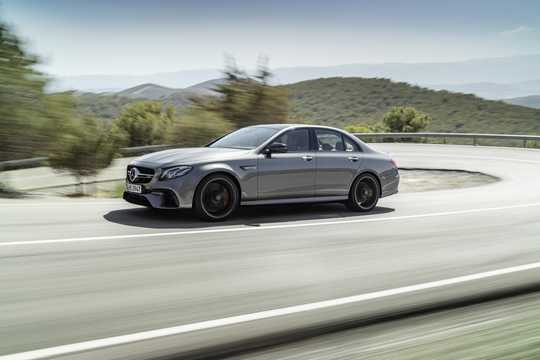 Front/Side  of Mercedes-Benz AMG E 63 S 4MATIC+  , 612hp, 2017