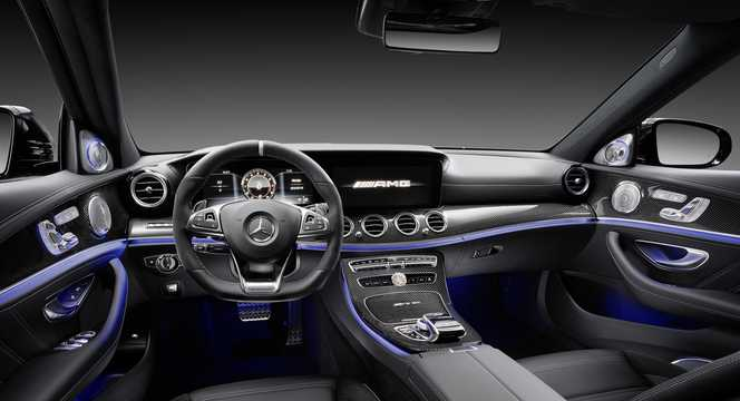 Interior of Mercedes-Benz AMG E 63 S 4MATIC+  , 612hp, 2017