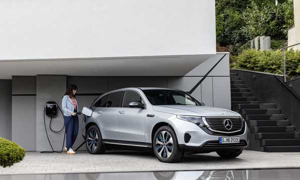 Front/Side  of Mercedes-Benz EQC 400  Single Speed, 408hp, 2019