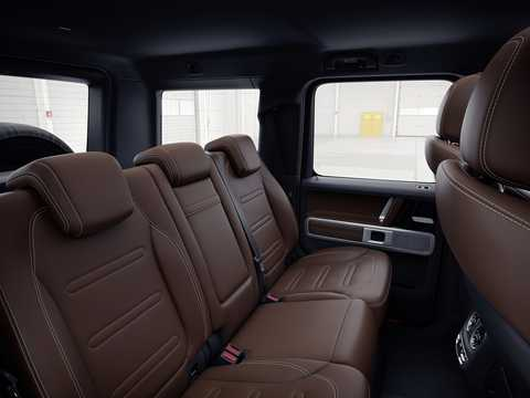 Interior of Mercedes-Benz G 500  9G-Tronic, 421hp, 2019