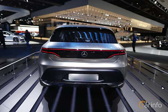 Back of Mercedes-Benz Generation EQ 70 kWh Single Speed, 408ps, 2016 at North American International Auto Show 2017