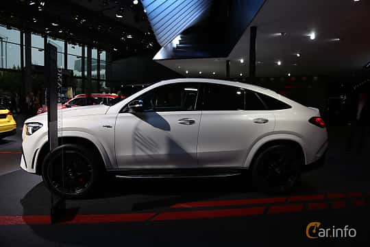 Side  of Mercedes-Benz AMG GLE 53 4MATIC+ Coupé  9G-Tronic, 435ps, 2020 at IAA 2019