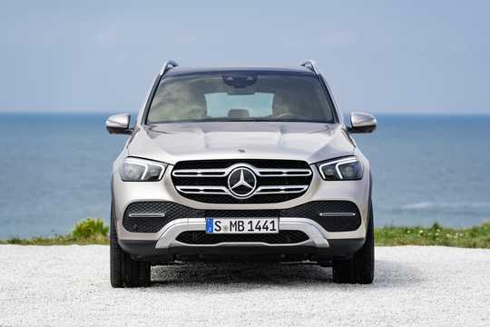 Front  of Mercedes-Benz GLE 450 4MATIC  9G-Tronic, 367hp, 2019