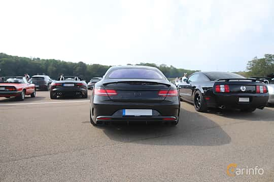 Back of Mercedes-Benz AMG S 63 4MATIC+ Coupé  , 612ps, 2018 at Autoropa Racing day Knutstorp 2019