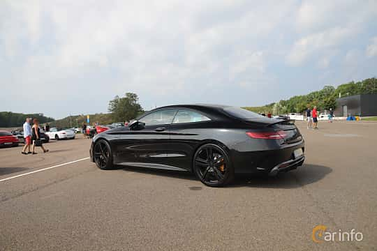 Back/Side of Mercedes-Benz AMG S 63 4MATIC+ Coupé  , 612ps, 2018 at Autoropa Racing day Knutstorp 2019